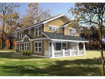Arts & Crafts Home Plan, 026H-0100