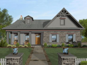 Craftsman House Plan, 007H-0143