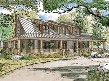 Rustic House Plan, 074H-0038