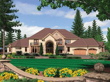 Mediterranean Home Plan, 034H-0142