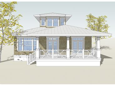 Beach Home Plan, 052H-0039