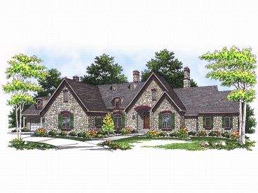 European House Plan, 020H-0093