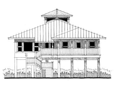Beach Home Plan, 052H-0064