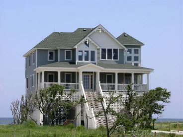 Beach Coastal House Plan, 041H-0018