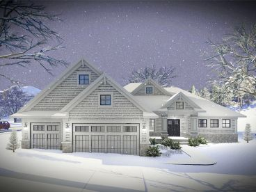 Empty-Nester House Plan, 020H-0465