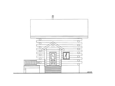 Log Cabin, Left, 012L-0070