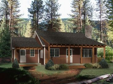 Cabin Home Plan, 005H-0036