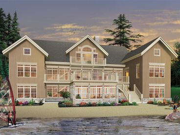Waterfront Home, Rear, 027H-0390