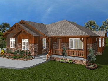 Rustic Home Plan, 065H-0028