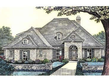 European House Plan, 002H-0089