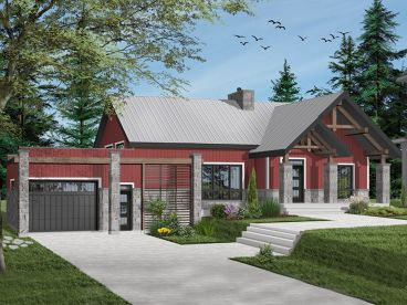 Craftsman House Plan, 027H-0492