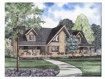 Log House Plan, 025L-0037