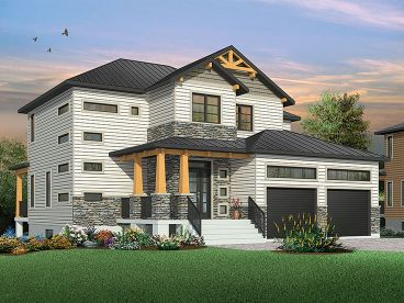 Craftsman House Plan, 027H-0443