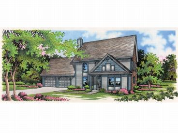 Two-Story House Plan, 021H-0058