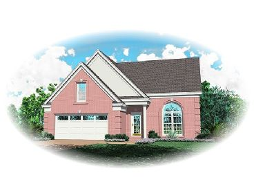 Narrow Lot Home Plan, 006H-0004