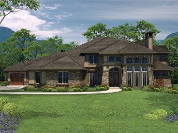 Unique Luxury Home Plan, 020H-0308