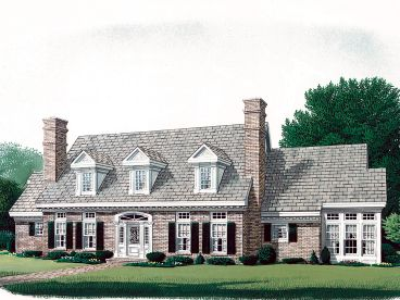 Cape Cod House Plan, 054H-0017