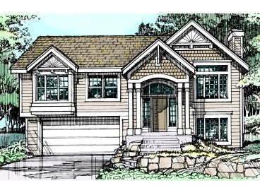 Split-Level House Plan, 022H-0081