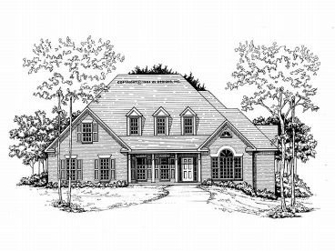 2-Story House Plan, 019H-0012