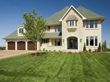 European House Plan, 007H-0129