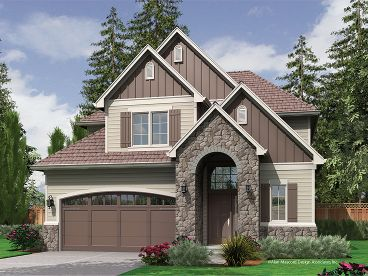 European House Plan, 034H-0189