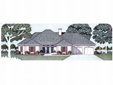 Sunbelt House Design, 021H-0125