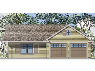 Carriage house plans the house plan shop for Garage with living quarters one level