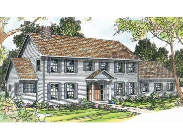 Colonial House Plan, 051H-0059