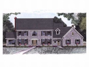Cape Cod House Plan, 023H-0046