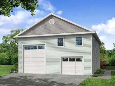 RV Carriage House Plan, 051G-0130