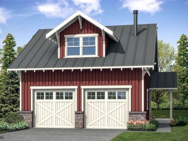 Garage Plan with Flex Space, 051G-0109