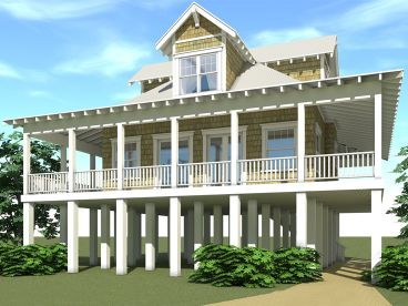 Coastal House Plan, 052H-0062