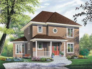 Country Home Plan, 027H-0170