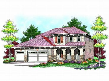 Mediterranean Home Plan, 020H-0185