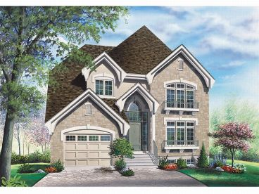 Narrow Lot Home Plan, 027H-0080