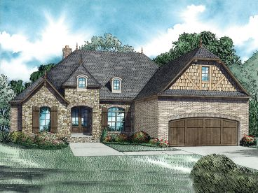 European House Plan, 025H-0283