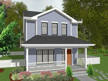 Narrow Lot House Plan, 031H-0427