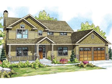 Country Craftsman Home, 051H-0189