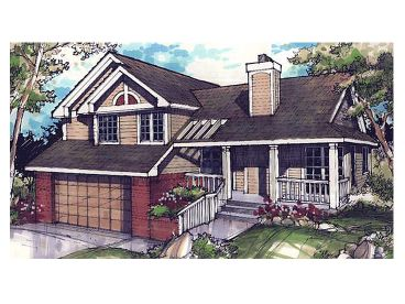 Split Level House Plan, 022H-0111