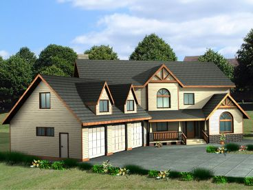 Two-Story Country House Plan, 012H-0157