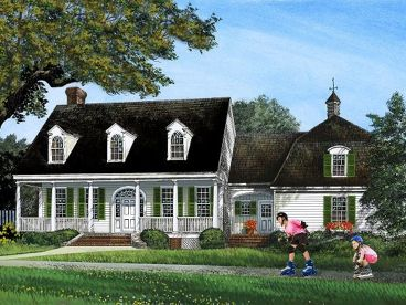 Coutnry House Plan, 063H-0199