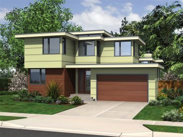 Modern Two-Story House Plan, 034H-0421