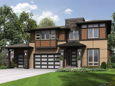 Contemporary Home Plan, 035H-0125