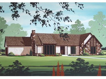Ranch Home Plan, 021H-0206