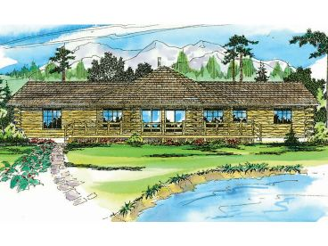 Log House Plan, 051L-0001