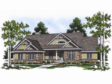 Sloping Lot House Plan, 020H-0087
