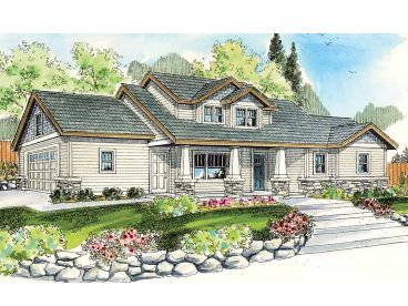 Arts & Crafts House Plan, 051H-0168