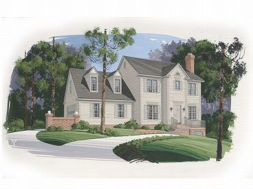 Cape Cod House Plan, 007H-0024