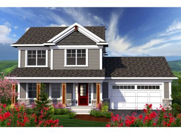 Two-Story House Plan, 020H-0341