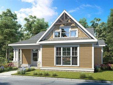 Bungalow House Plan, 019H-0197